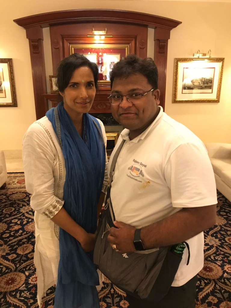 Chef Rajeev with Padma lakshmi